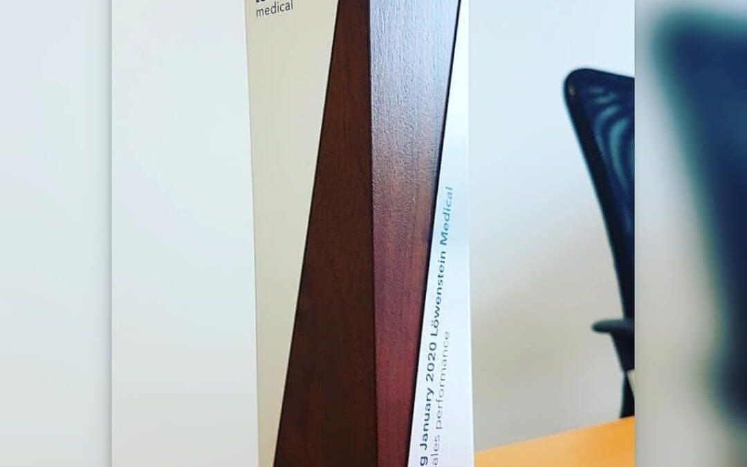 Special Sales Performances- награда за Би-МЕК за успешна соработка со Lowenstein Medical